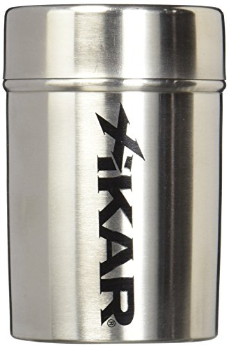 Xikar Ashtray Can, Portable, Stainless Steel Construction, Fits Into Most Cup Holders, Ring and Spiral To Secure Cigars