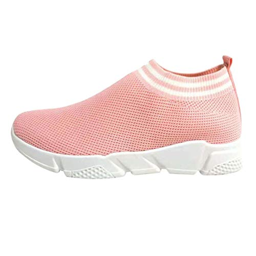 Traspirante Calzino A 2 Sneaker Maglia Comfort Atletico Casual Mesh Ginnastica Correre Camminare Leggero Donne Tenthree Scarpe Da Fitness Rosa qf4wdUEE8