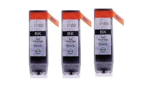3 Pack - Toners & More ® Compatible Black Inkjet Cartridge for Canon PGI-225 PGI225, PGI-225BK Large Black, Compatible with Canon PIXMA MG5220, MG6120, MG8120, IP4820, MX882, MG5120, IX6520, MG8120B, MG5320, MG6220, IP4920, MG8220, MX712, MX892