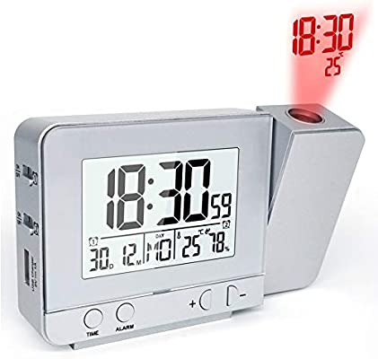 Estación meteorológica con reloj despertador de proyección ...