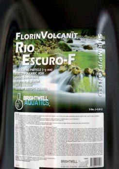 Brightwell Aquatics FlorinVolcanit Rio Escuro-F Black 3mm FW shrimp biotope aquaria, 24 lb (Brightwell Water Black)
