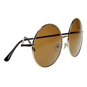 zeroUV - Super Large Oversized Metal Round Circle Sunglasses