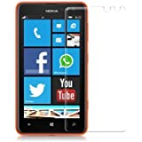Plus 0.3mm Tempered Glass for Nokia Lumia 625 [Cutout for Proximity Sensor], 0.3mm thickness, 9H Hardness, 2.5D Curved Edge, Reduce Fingerprint, No Rainbow, Bubble Free & Oiled Stains Coating with Alcohol wet cloth pad & clean micro fibre Dry cloth, Anti Explosion Tempered Glass Screen Protector for Nokia Lumia 625