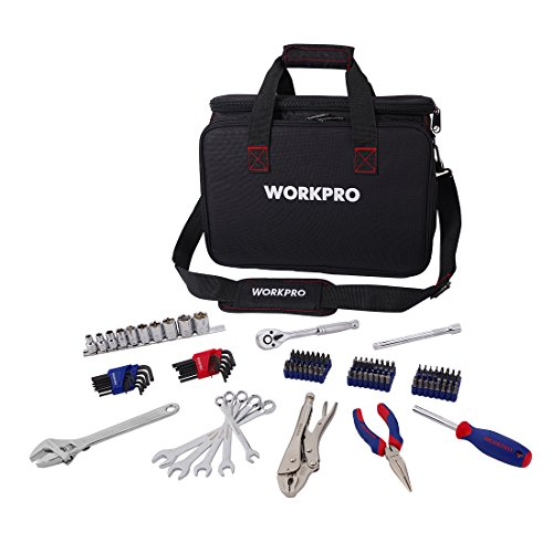 Workpro 143-piece home repair tool kit