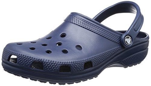 crocs Unisex Classic Clog, Navy, 8 US Men / 10 US Women