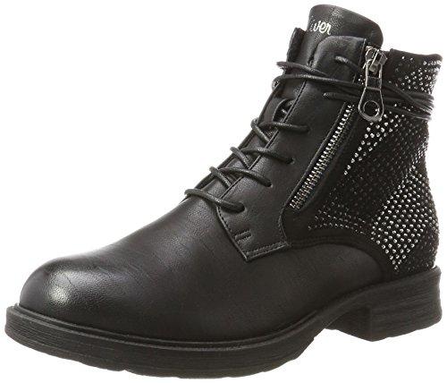 Militar Botas S Mujer black Negro oliver 25107 Para BUqw4Fq