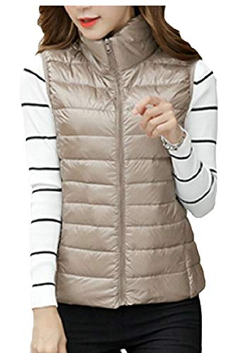 with Puffer Women's security Pocket Gamel Hooded Jacket Lightweight Vest Outdoor Packable Coat xzwwqI7H