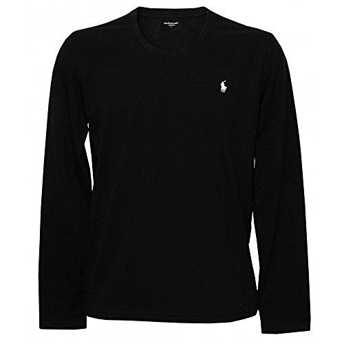 Polo Ralph Lauren Men's Long Sleeve Pony Logo T-Shirt - Large - Black Charcoal