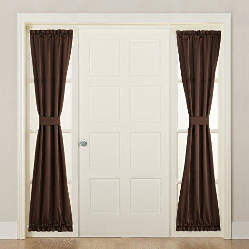 brown door curtain panel - 5