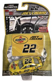 2017 Wave 9 Joey Logano #22 Pennzoil Paint Scheme 1/64 Scale Diecast Lionel NASCAR Authentics With Collector Magnet Card (Diecast Collector Scale)