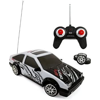 Liberty Imports Super Fast Drift Legend AE86 R/C Sports Car Remote Control Drifting Race Car 1:24 + Headlights, Backlights, Side Lights + 2 Sets of Tires