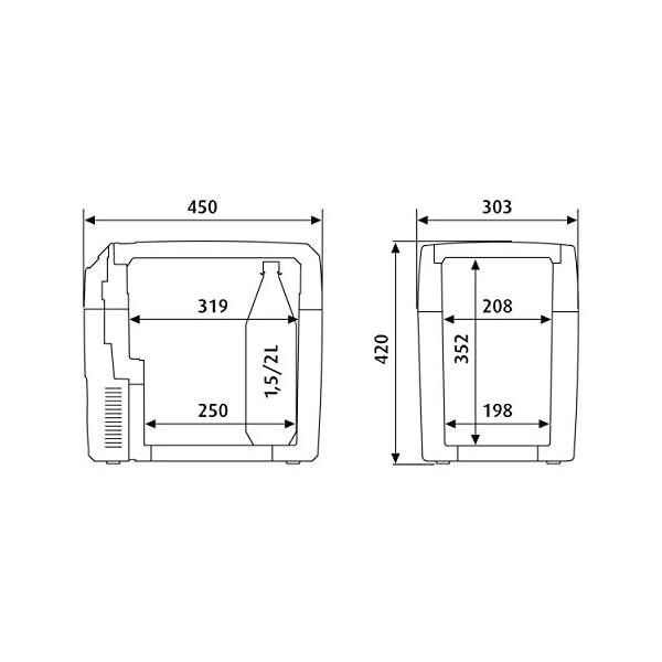 418PN1RYHFL DOMETIC TropiCool TC 21FL - tragbare elektrische Kühlbox, 20 Liter, 12/24 V DC/ 220 - 240 Volt AC für Auto, Lkw, Boot…