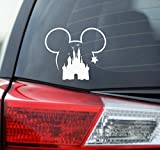 Blue Giraffe Inc Disney Car Decal - 4.5'' Mickey Mouse & Castle Bumper Sticker