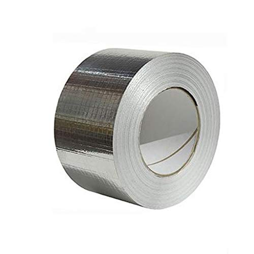 Fan-Ling One Roll Aluminium Foil Tape, WaterProof & UV Resistant Aluminium Foil Tape, Cost-Effective Glass Floor Roof Window Repair Tool,Perfect for HVAC, Duct, Pipe, Insulation and More (B:10cm x 5m)