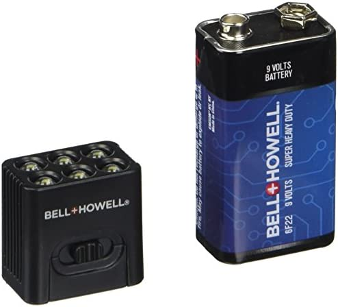 MicroBrite LED Flashlight by Bell and Howell 9-volt Battery Included 2-Pack