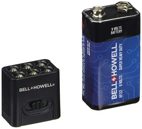 - MicroBrite LED Flashlight by Bell and Howell 9-volt Battery Included (2-Pack)