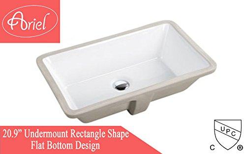 Undermount White Ceramic Sink - 2