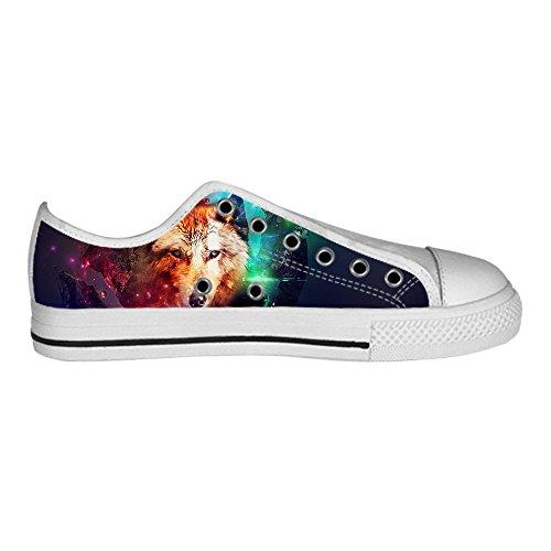 Dalliy Wolf und Mond Mens Canvas shoes Schuhe Lace-up High-top Sneakers Segeltuchschuhe Leinwand-Schuh-Turnschuhe C