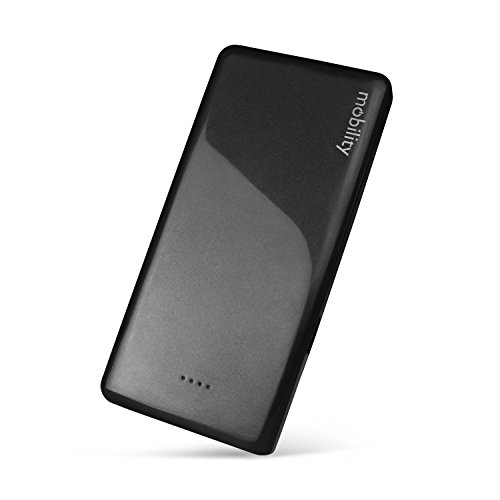 Mobility 10,000 mAh Power Bank (black) w/ Dual USB Output - Portable Charger/Lithium Polymer Battery Pack Designed