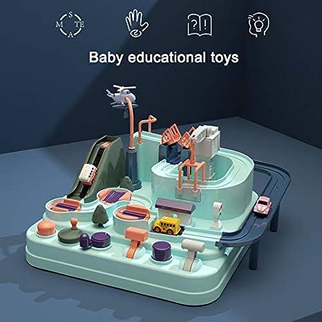 Jeu Piste de Course pour Les Tout-Petits Simulation en Forme de Macaron Starall Piste de Voiture Jouet Jouets Educatifs Circuit Jouet Voiture Flexible Enfant Multicolore Effet