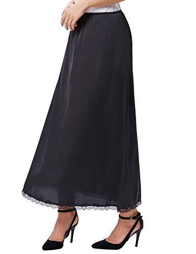 - Kate Kasin Plus Size Half Slips for Women Black Stain Stretchy Slips XL KK263-1