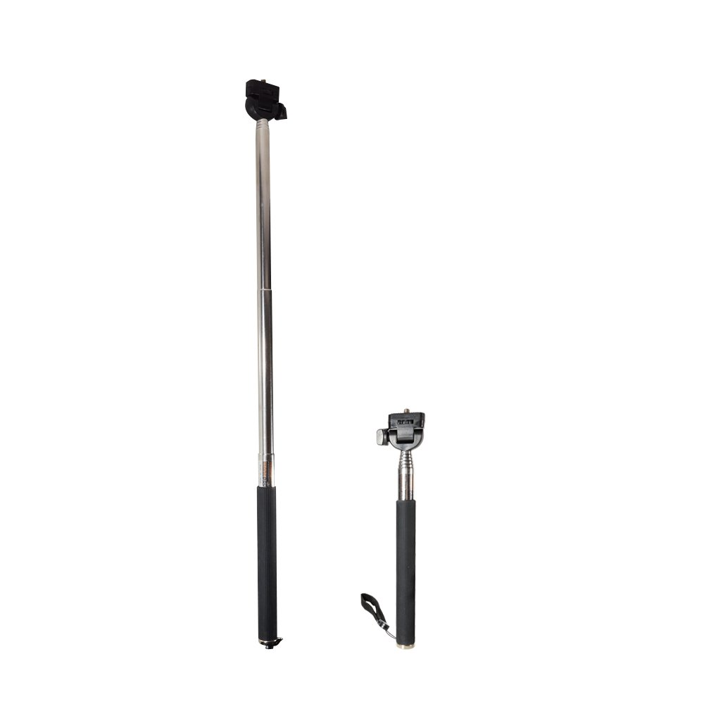CamDesign Extender Handheld Telescopic Monopod Adjustable Telescopic Pole for GoPro Hero 1, 2, 3, 3+, 4 and Other Cameras with CamDesign Wristband Lens Focus Ring Cam Design