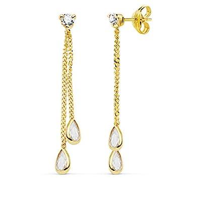 cercare prezzi di sdoganamento prezzi incredibili orecchini pendenti da donna Drops Oro Giallo 18 carati (750 ...