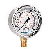 "Measureman 2-1/2"" Dial Size, Oil Filled Pressure"