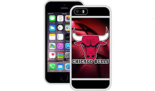 Chicago Bulls | Handgefertigt | iPhone 5 5s SE | Weiß TPU Hülle