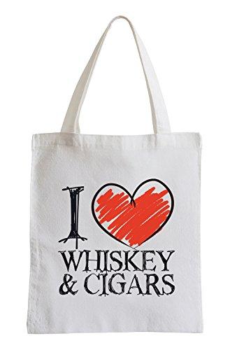 Amo Whisky & Cigars Fun sacchetto di iuta