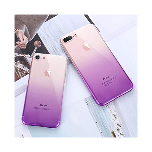 NorthEsther for iPhone 6 6S iPhone 7 8 Plus Ultra Thin Cases for iPhone X Xs Max Xr Clear TPU Phone Cases for iPhone 5S 5 SES,Purple,for iPhone Xs Max