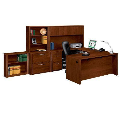 Bestar Office Furniture Embassy Collection Executive Office Group Set, Tuscany Brown