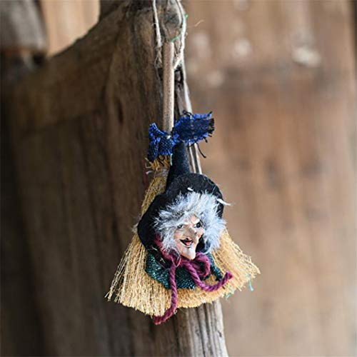 Sperrins Halloween Scary Witch Ghost Hanging Party Decoration Bars House Craft Ornaments for Party Nightclub Outdoor Wall Hanging Decor]()