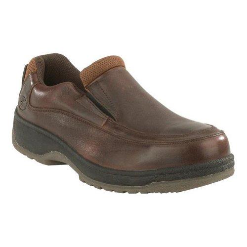 Fs245 Florsheim Mujeres Eurocasual Safety Zapatos - Marrón Oscuro Bison Brown
