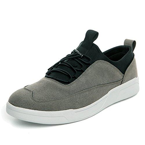 Xiafen Mens Moda Low-cut Confortevole Casual Appartamenti Autunno Moda Sneaker Grigio