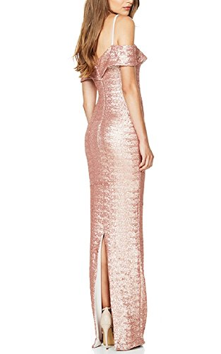Dresses Dress Shoulder Sexy Prom Champagne Formal Sequin Ball The BILIKE Off Long Gown PqOw4g4nR