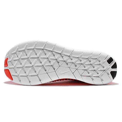 Nike Mens Free Rn Flyknit, Brillante Cremisi / Bianco-nero, 12,5 M Us