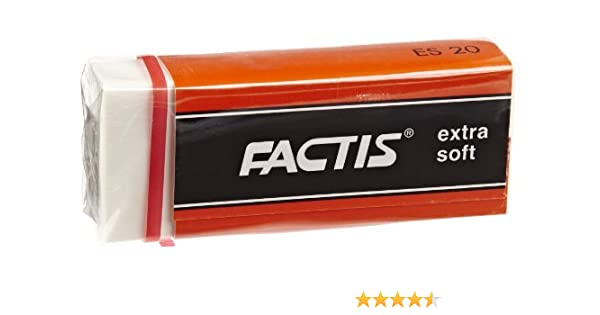 ES20 FACTIS WHITE VINYL EXTRA SOFT ERASER INC GENERAL PENCIL CO.