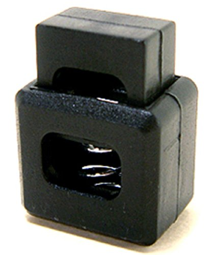 Ravenox Square Block Cord Lock | Rope Toggle for One Handed Shoe Laces | Plastic Spring Stop Cube Toggle Stoppers (500 Pack)(Black) by FMS (Image #1)