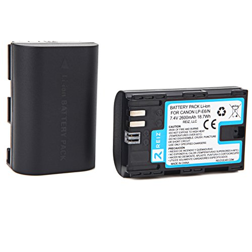 LP-E6N BATTERY FOR CANON CAMERA EOS R 90D 80D 60D 70D 7D 5D