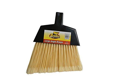 Janico 4050 Bristles Angle Broom, Flagged Poly Bristles, Split Tip Fibers, Metal Handle, Natural by Bristles