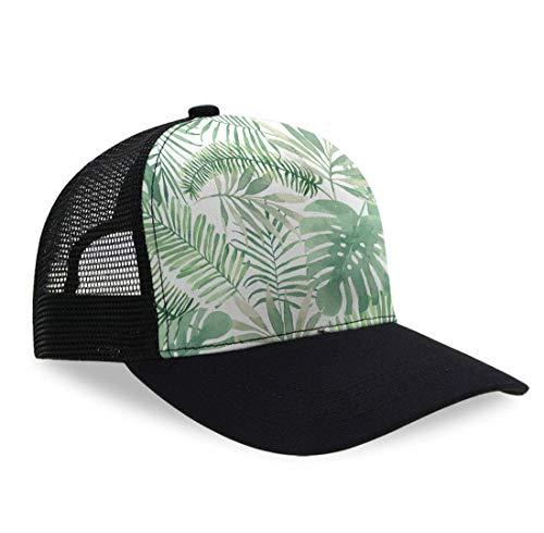 YongColer Unisex Trucker Baseball Cap Low Profile Black Hat Gift (Mauritius Green Leaves)