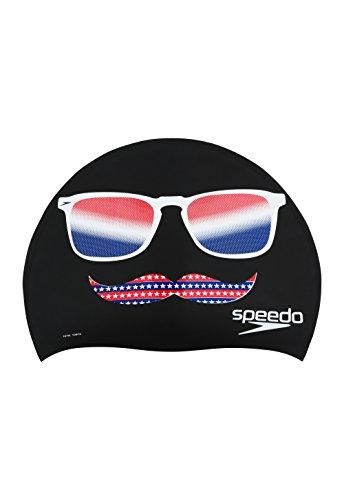 Speedo Holiday Assortment Silicone Swim Caps, Speedo Black, One Size
