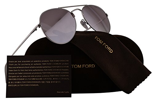 Silver Tom Ford Sunglasses - Tom Ford FT0551 Ace-02 Sunglasses Rhodium Shiny Silver w/Violet Gradient Mirror Lens 18Z TF551 FT551/S TF551/S