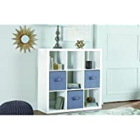 Better Homes and Gardens 9-cube Organizer Storage Bookcase Bookshelf White Lacquer