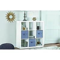 Better Homes and Gardens 9-cube Organizer Storage Bookcase Bookshelf White Lacquer
