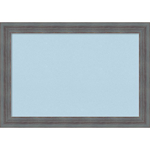 Amanti Art Framed Blue Cork Board Dixie Grey Rustic: Outer Size 20 x 14'', Small by Amanti Art