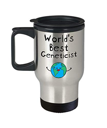 World's Best Geneticist Travel Coffee Mug Stainless Steel Gifts for Genetics Biologist Science Medical Doctor Lab Technician - Men Women Badass Future Superpower Ever Trust Me I am Awesome