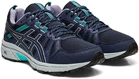 the latest f1cb0 899b0 ASICS Gel-Venture 7 Women s Running Shoes, Black Silver, 6 W US
