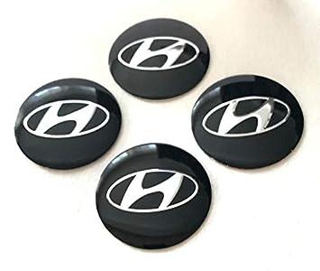 Hyundai Emblema Rueda Centro Tapa Adhesivo Logotipo Tapacubos - 55 mm Dome - Juego de 4: Amazon.es: Coche y moto